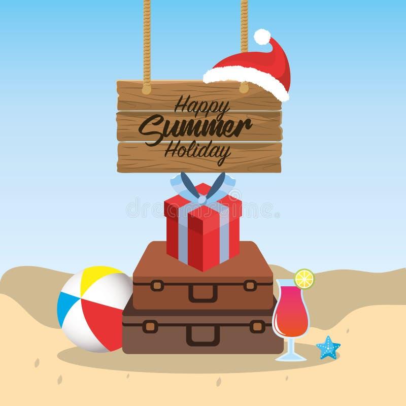 夏天圣诞快乐假日假期 皇族释放例证