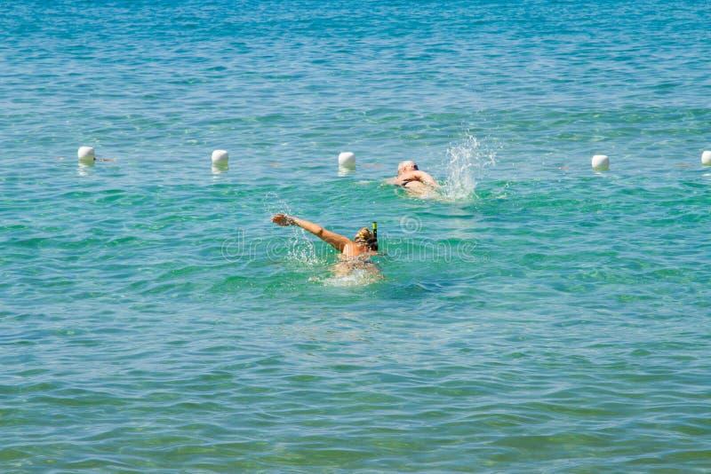夏天在厄尔巴岛海岛,意大利 免版税库存图片