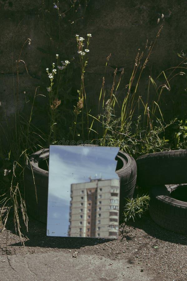 夏天在城市 免版税库存照片
