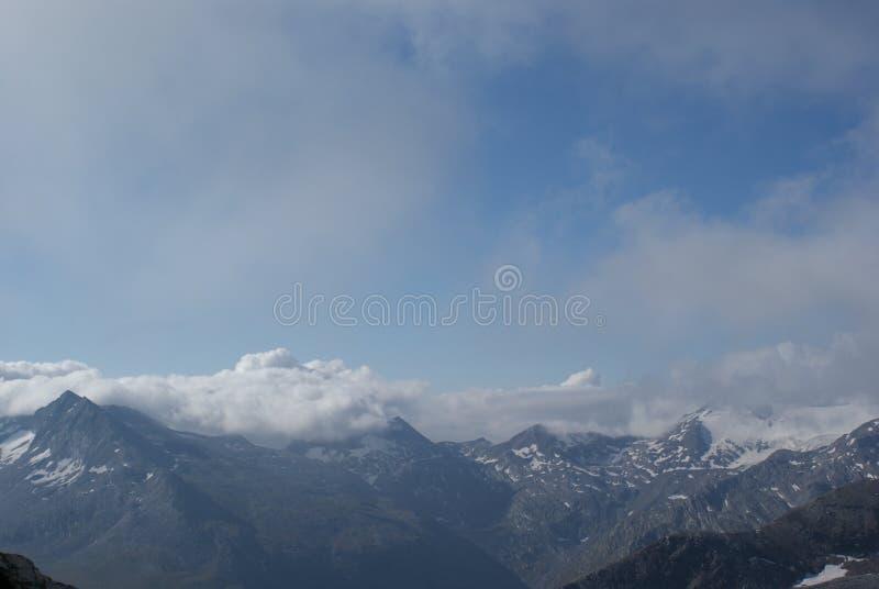 夏天在瑞士阿尔卑斯-杜富尔峰,铸工, Polux,马塔角-高山冰川 库存图片