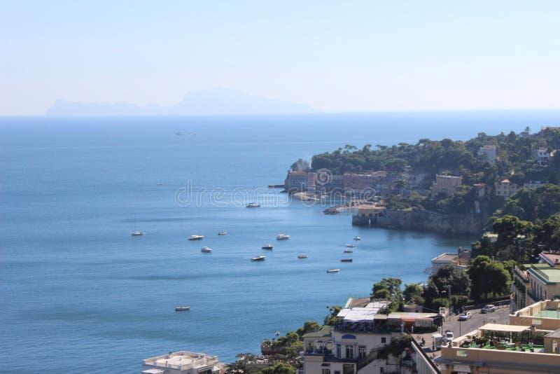 夏天在那不勒斯,意大利 免版税库存图片