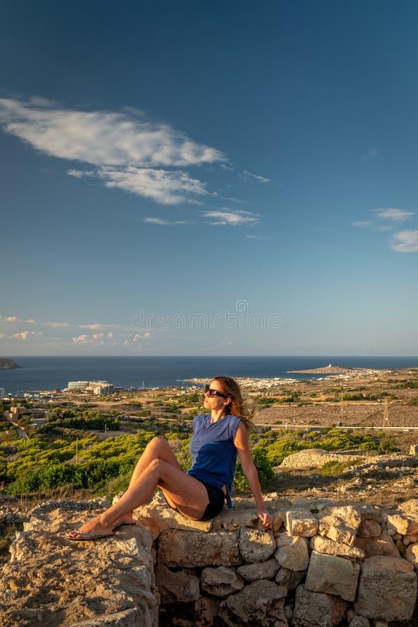 夏天在马耳他 免版税库存照片