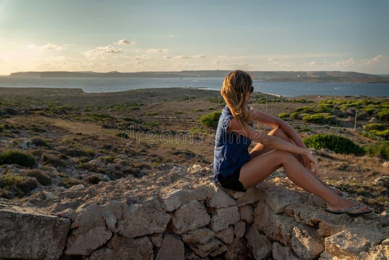 夏天在马耳他 库存图片