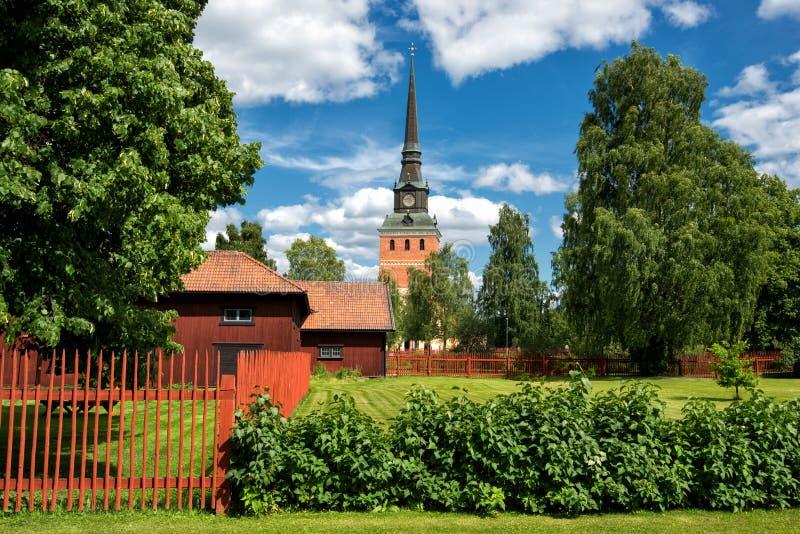 夏天在Dalecarlia,瑞典 免版税图库摄影