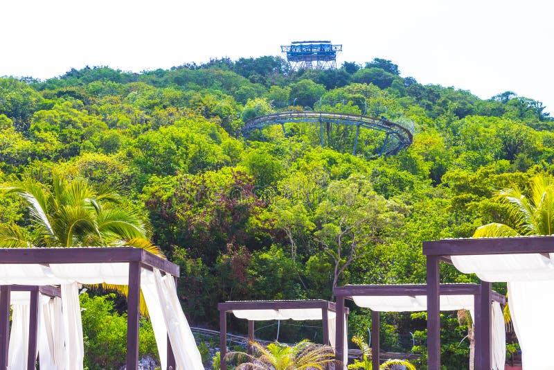夏天在Labadee海岛的长橇轨道海地的晴天, 图库摄影