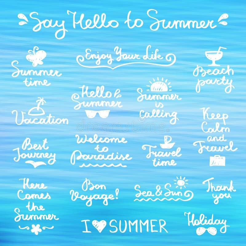 夏天字法 向量例证