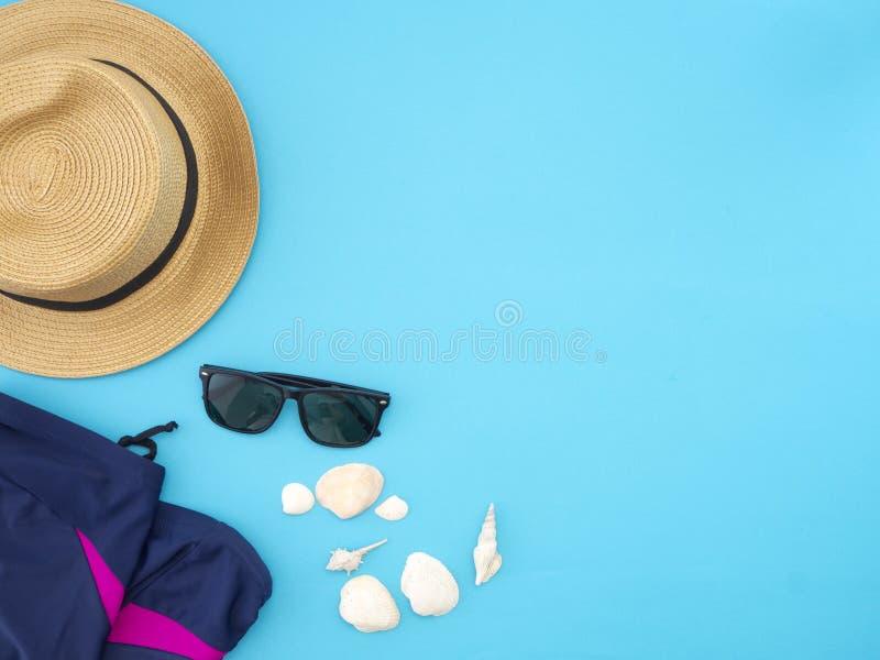 夏天旅行想法和海滩对象 图库摄影