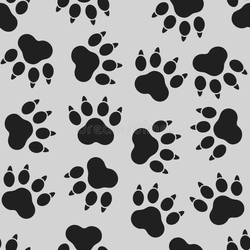 夏天无缝的样式狗` s脚的脚底 免版税图库摄影