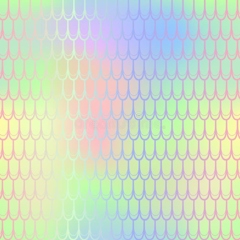 夏天明亮的鱼鳞样式纹理 美人鱼无缝的样式瓦片 向量例证