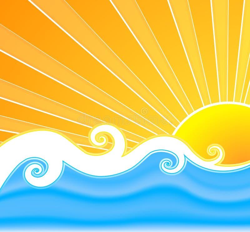 夏天晴朗的漩涡 皇族释放例证