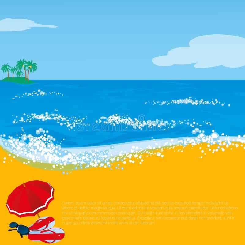 夏天海滩假日摘要 皇族释放例证