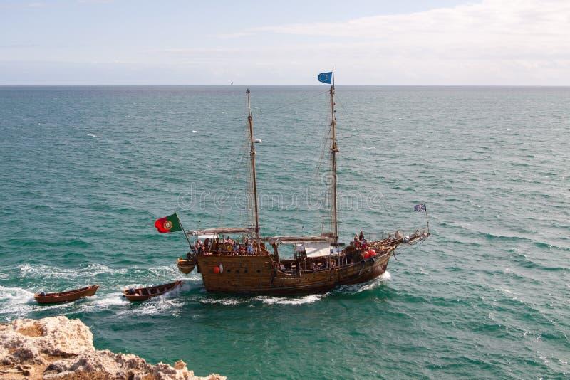 夏天海盗游轮 库存图片