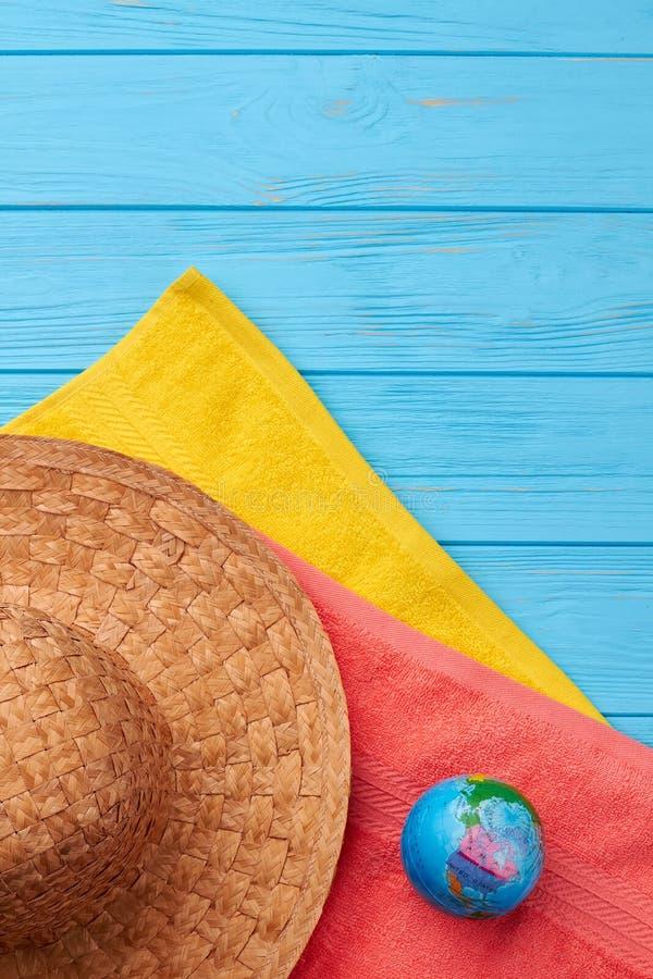 夏天海滩假期静物画 库存照片