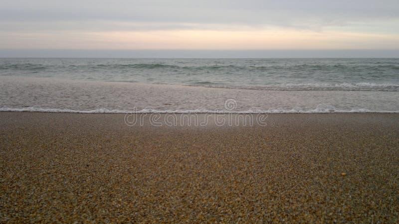 夏天海滩和海 免版税库存图片