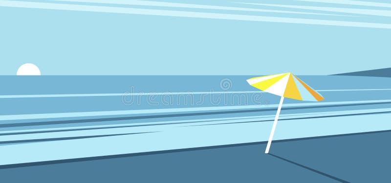 夏天海滩黎明 皇族释放例证