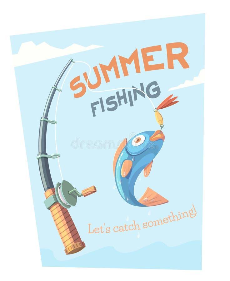 夏天渔 库存例证