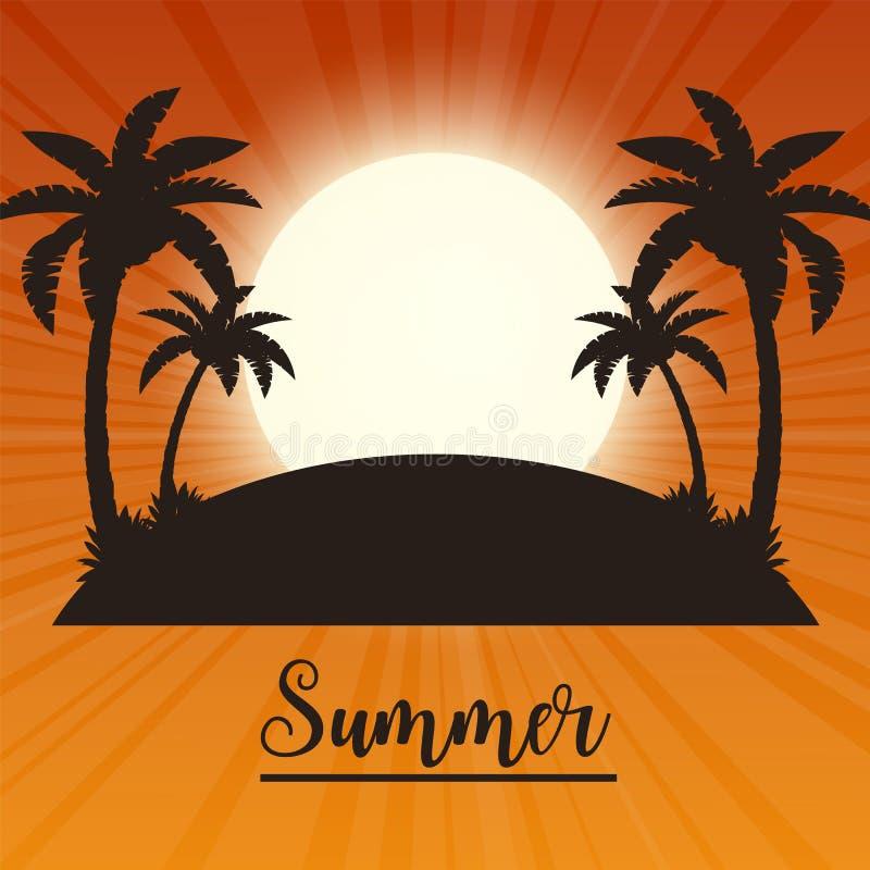 夏天热带背景 皇族释放例证