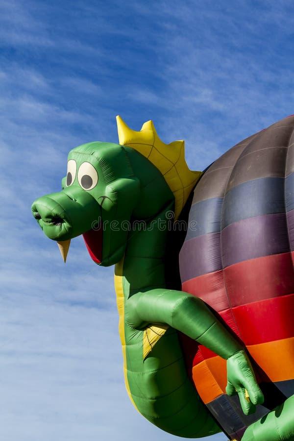 夏天热空气气球节日 免版税库存图片