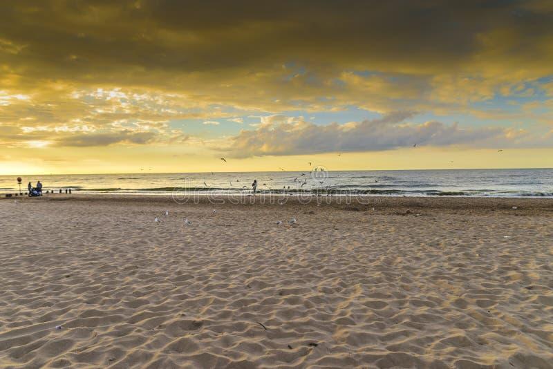 夏天的结尾,海滩 库存图片