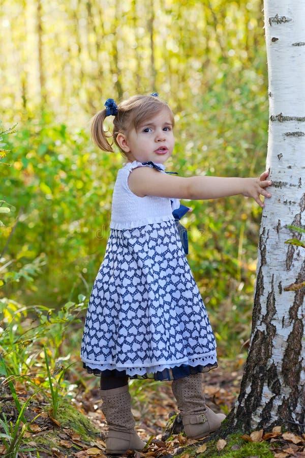 夏天礼服的小女孩 免版税图库摄影