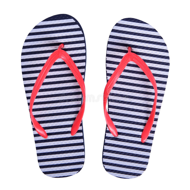 夏天穿上鞋子被隔绝的橡胶触发器 免版税库存图片