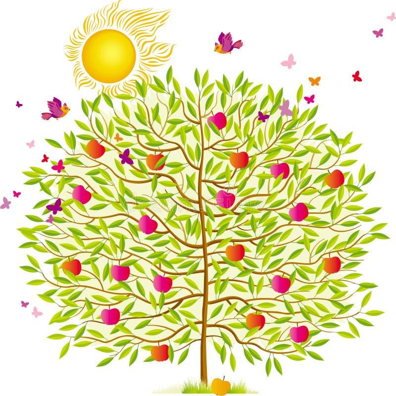 夏天结构树 皇族释放例证