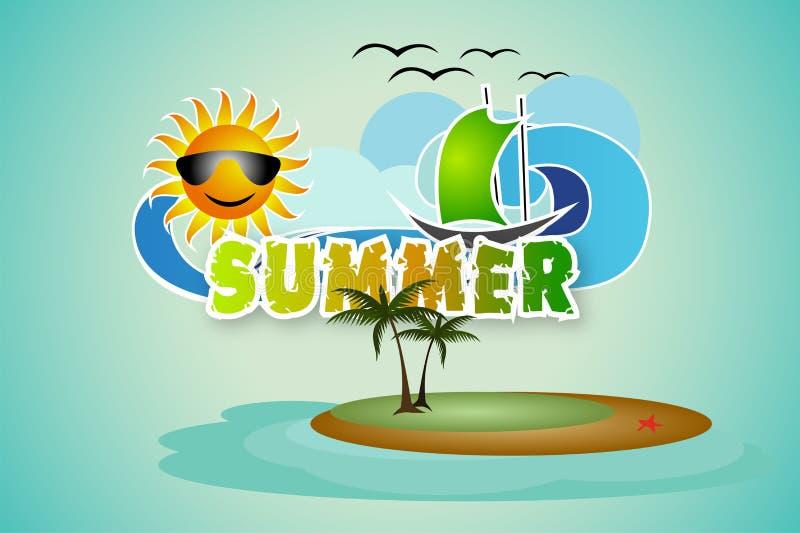 夏天背景 向量例证