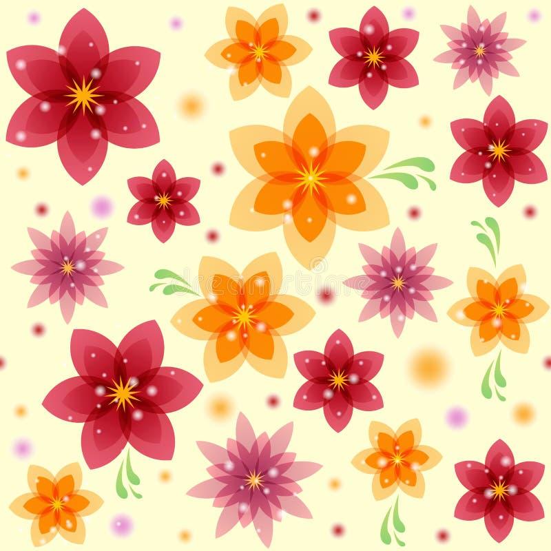 夏天花卉无缝的样式 免版税库存图片
