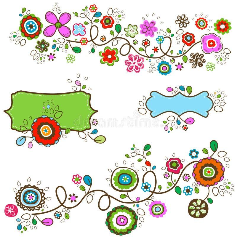 Download 夏天花 向量例证. 插画 包括有 装饰, 现有量, 五颜六色, 漩涡, brander, 图象, 等高, 框架 - 30333631
