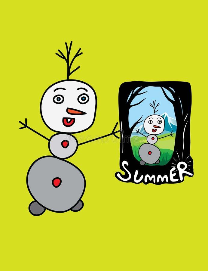 夏天记忆 向量例证