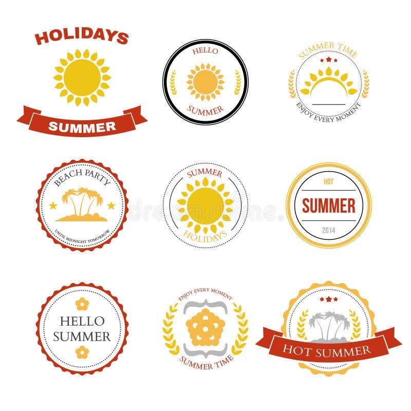 夏天设计元素和印刷术设计 皇族释放例证