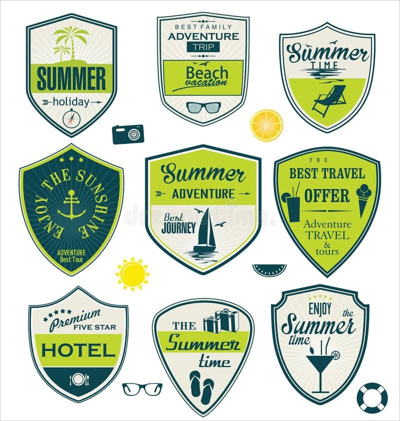夏天设计徽章 向量例证