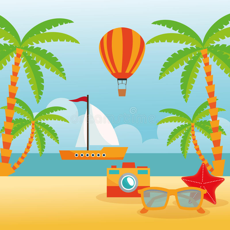 Download 夏天设计 假日象 五颜六色的例证,传染媒介 向量例证. 插画 包括有 假期, 回归线, 本质, 天堂, 表达式 - 72371356