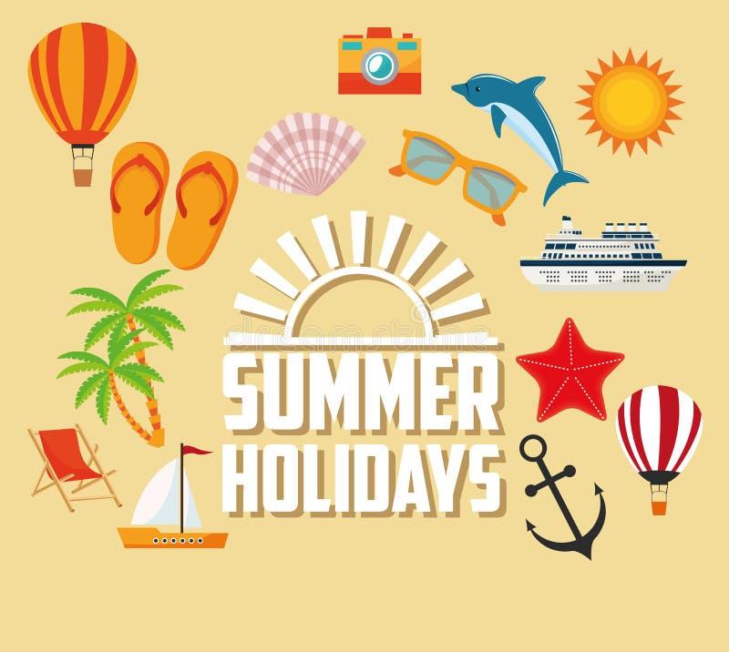 Download 夏天设计 假日象 五颜六色的例证,传染媒介 向量例证. 插画 包括有 节假日, 生活方式, 海豚, 海岛 - 72371510