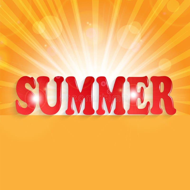 夏天设计 库存例证