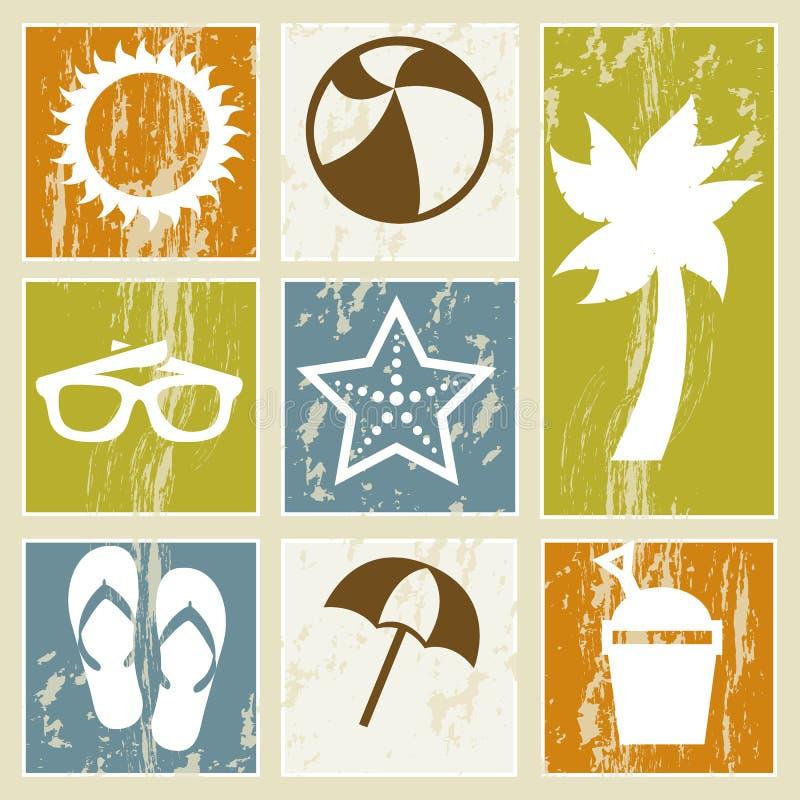 Download 夏天象 向量例证. 插画 包括有 火箭筒, 阳光, 乐趣, 晒裂, 拍击声, 海星, 玻璃, 蓝色, 本质 - 30334028