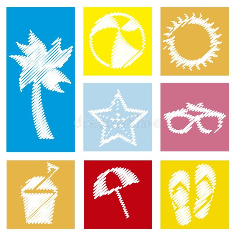 Download 夏天象 向量例证. 插画 包括有 休息, 例证, 乐趣, 掌上型计算机, 火箭筒, 五颜六色, 节假日, 重新创建 - 30334034