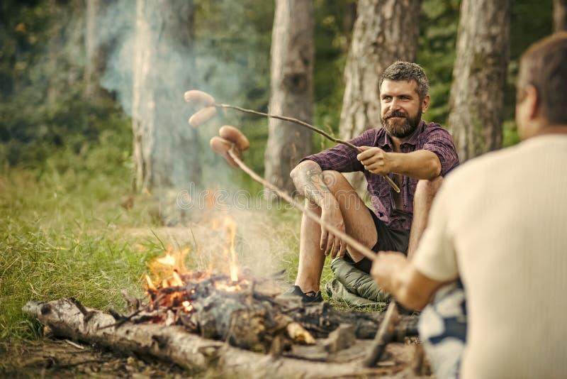 夏天野营,远足,假期 免版税库存照片