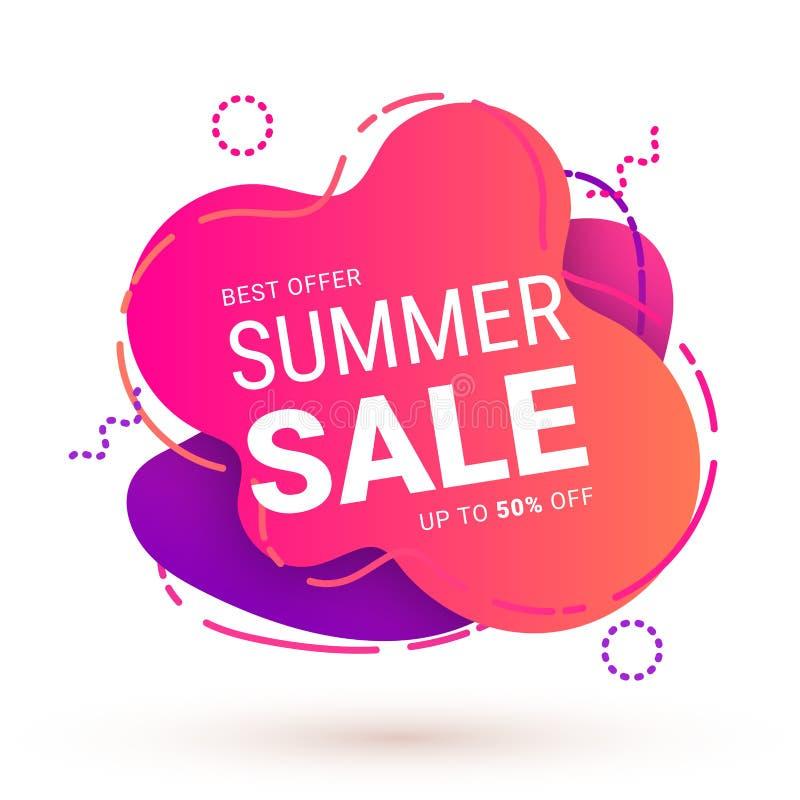 夏天销售变形虫细胞桃红色 向量例证