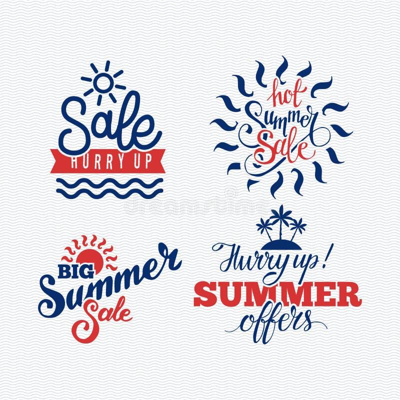 夏天销售徽章传染媒介 库存例证