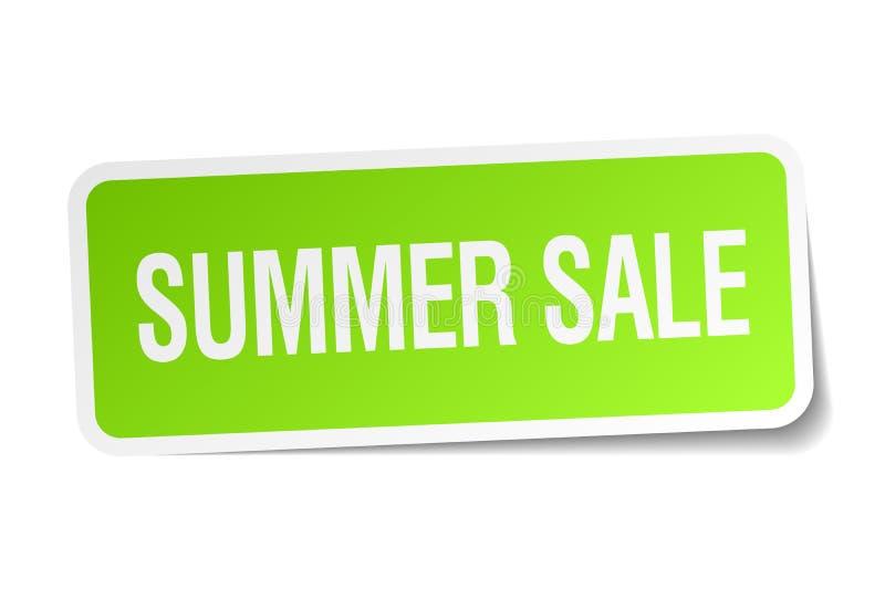 夏天销售贴纸 向量例证