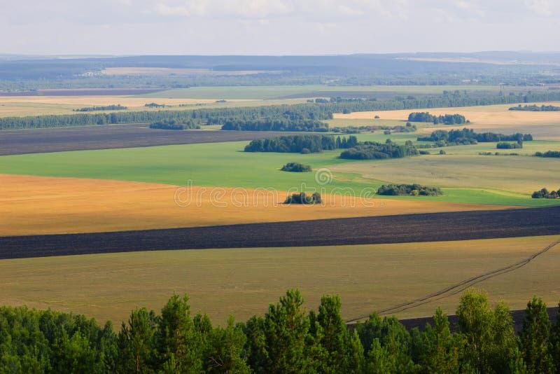夏天风景,从山的看法 库存照片