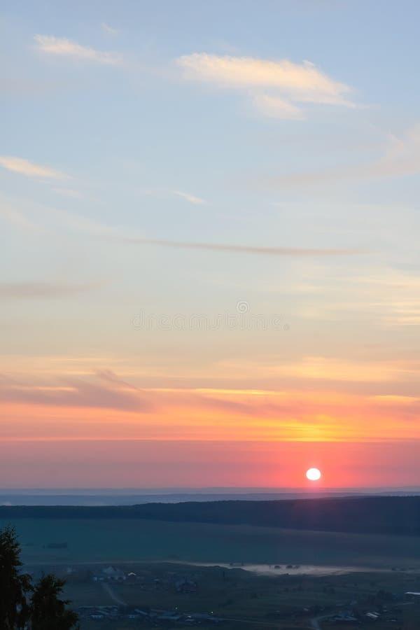 夏天风景,从山的看法 库存图片