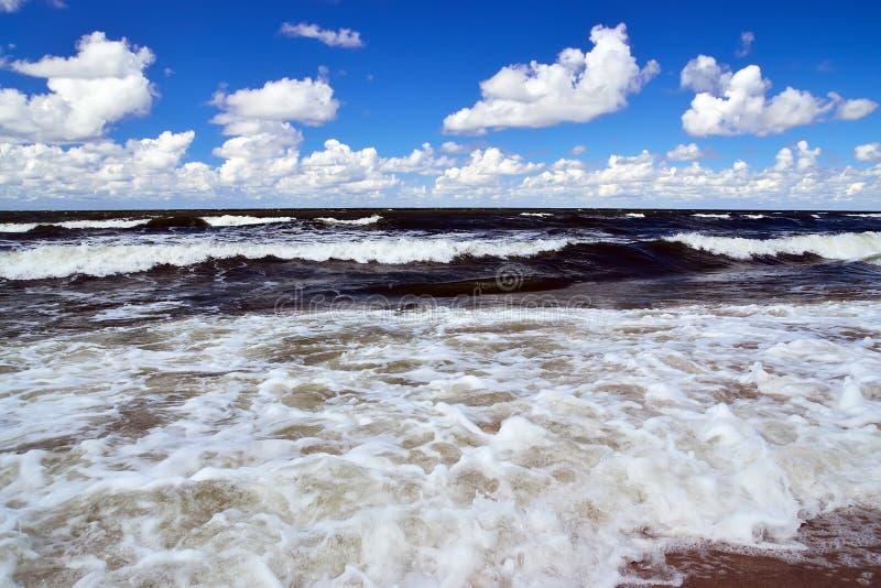 夏天风暴在波罗的海 库存图片