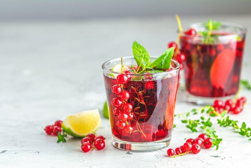夏天饮料和酒精鸡尾酒无核小葡萄干mojito 免版税库存图片