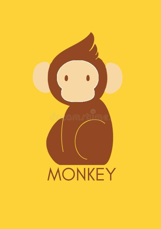 夏天香蕉猴子 皇族释放例证