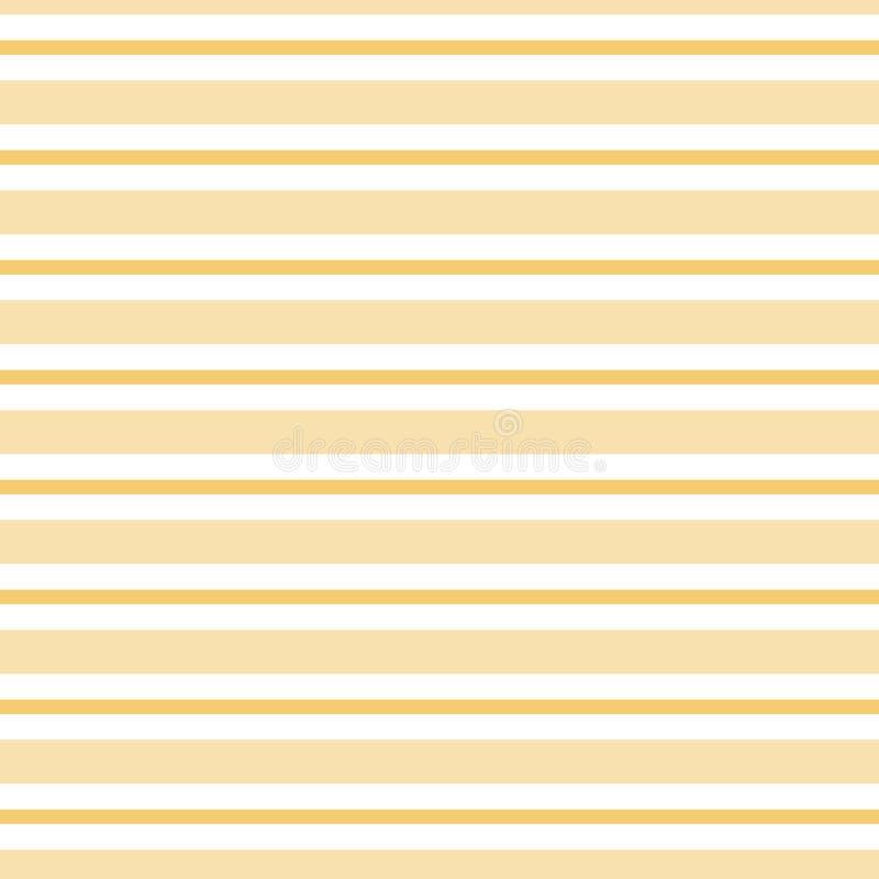 夏天黄色背景无缝的镶边的黄色样式传染媒介 皇族释放例证