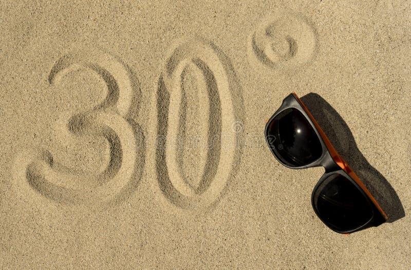 夏天,太阳,海滩- 30° 库存照片