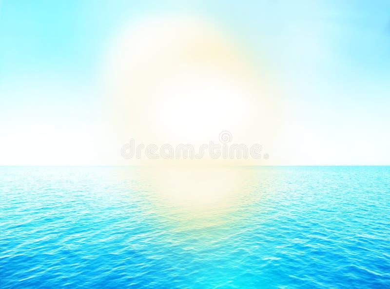 夏天水海洋 向量例证