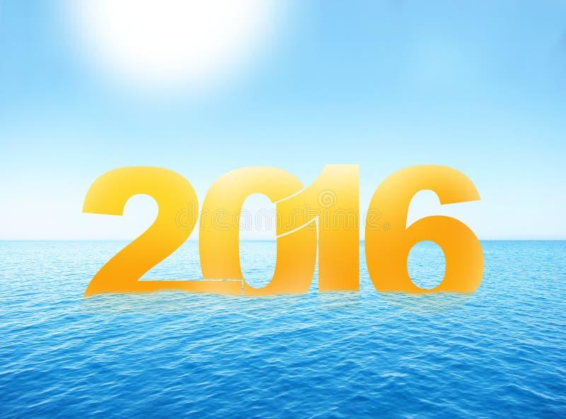夏天水海洋2016年 皇族释放例证